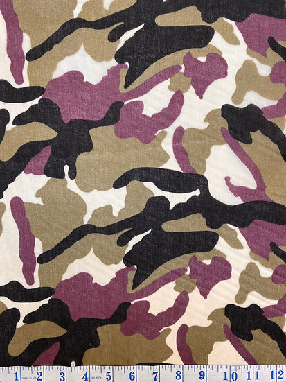 Camouflage Green Polycotton Fabric