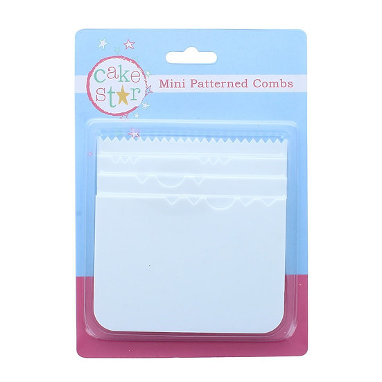Cake Star Mini Patterned Combs