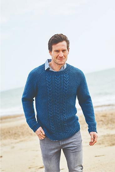 Stylecraft Highland Heathers Round & V-Neck Sweaters Pattern 9867