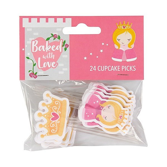 Baked With Love Princess Decorative Pics