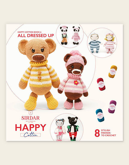 Sirdar Happy Cotton All Dressed Up Friends Pattern Book
