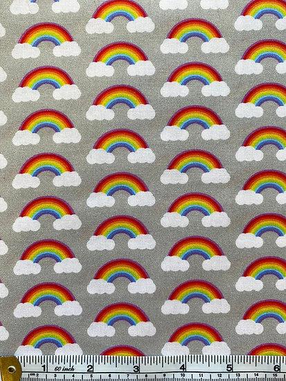 Rainbow Cloud Cotton Fabric
