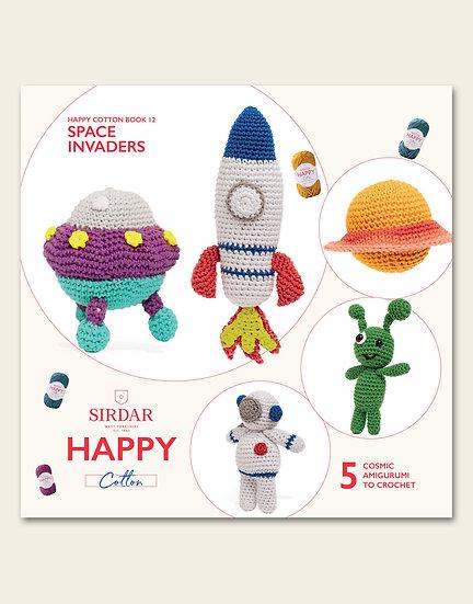 Sirdar Happy Space Invaders Pattern Book