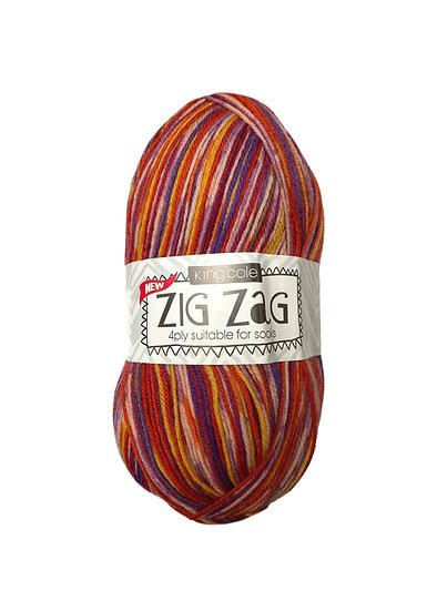 King Cole Zig Zag 4 Ply Sock Wool