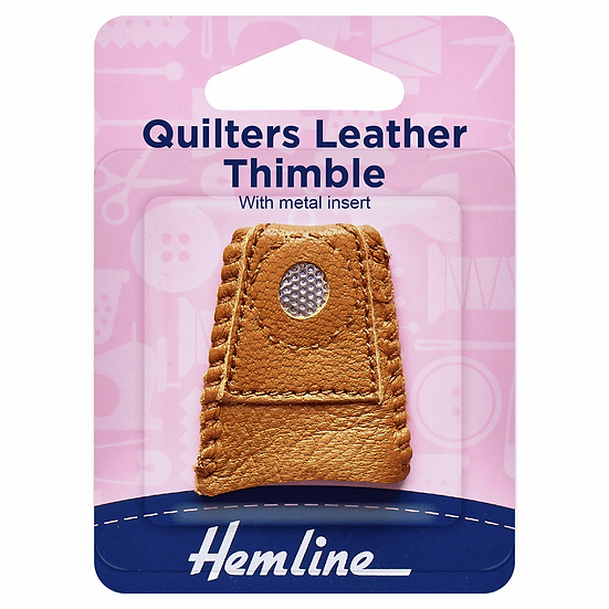 Quilters Leather Thimble Hemline