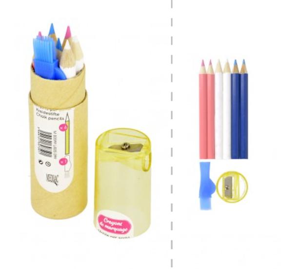 Chalk Pencils & Sharpener Tube