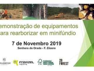 Demonstração de equipamentos para rearborizar em minifúndio - 7/11, Ferreira do Zêzere