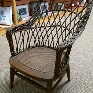 Antique wicker chair, child-sized