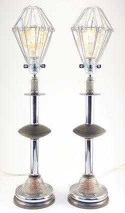 Passing of Momentary Stillness - Post Modern Table lamp pair