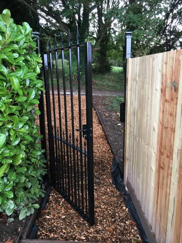 Rear garden gate.