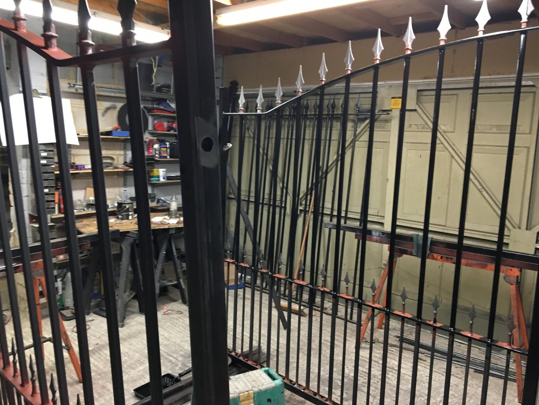 Estate gates in progress.