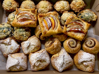 Breakfast pastries ready for delivery