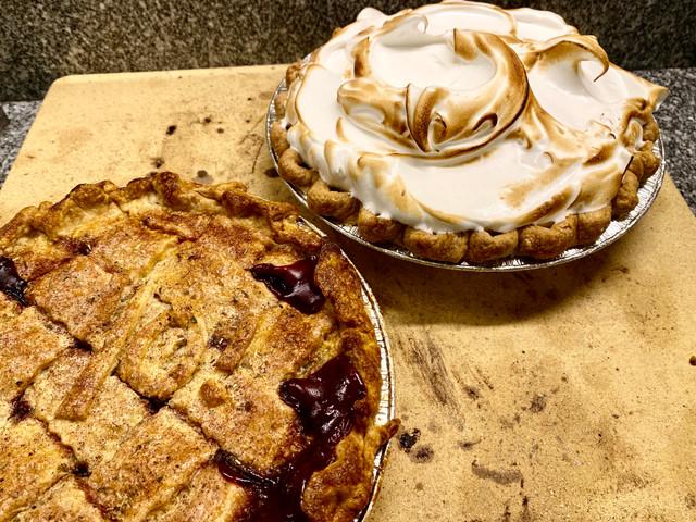 raspberry pie, lemon meringue pie