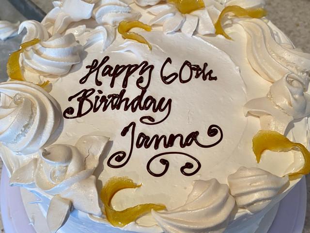 Decorated lemon cake