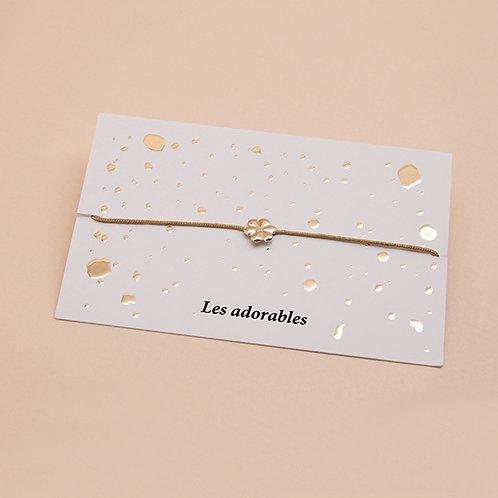 ADORABLES Lien Fleur Petit Coeur Emaillé