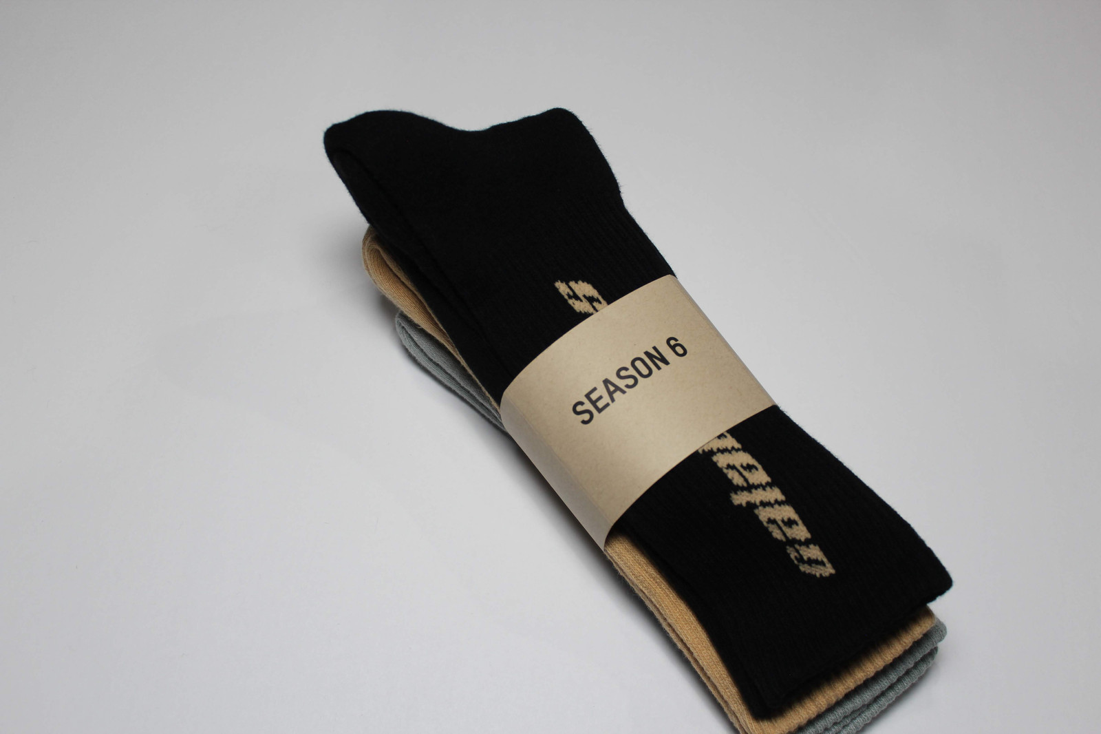 2dc215d55 Yeezy Calabasas Socks (3 Pack) Core Glacier Sand