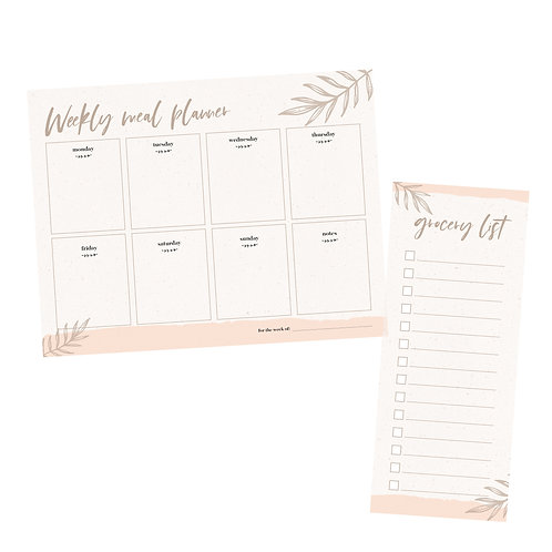 meal planner & grocery list pack