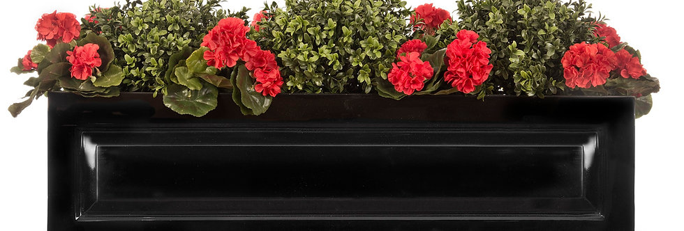Artificial Box Balls with Geraniums in Sloane Window Box