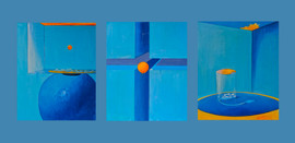 """<A atriptych about """"The 0 Day""""> , Oli on Canvas, 100x80x3cm"""