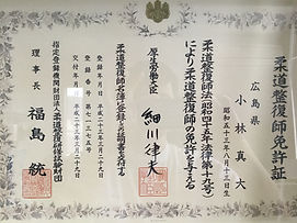 国家資格の柔道整復師免許
