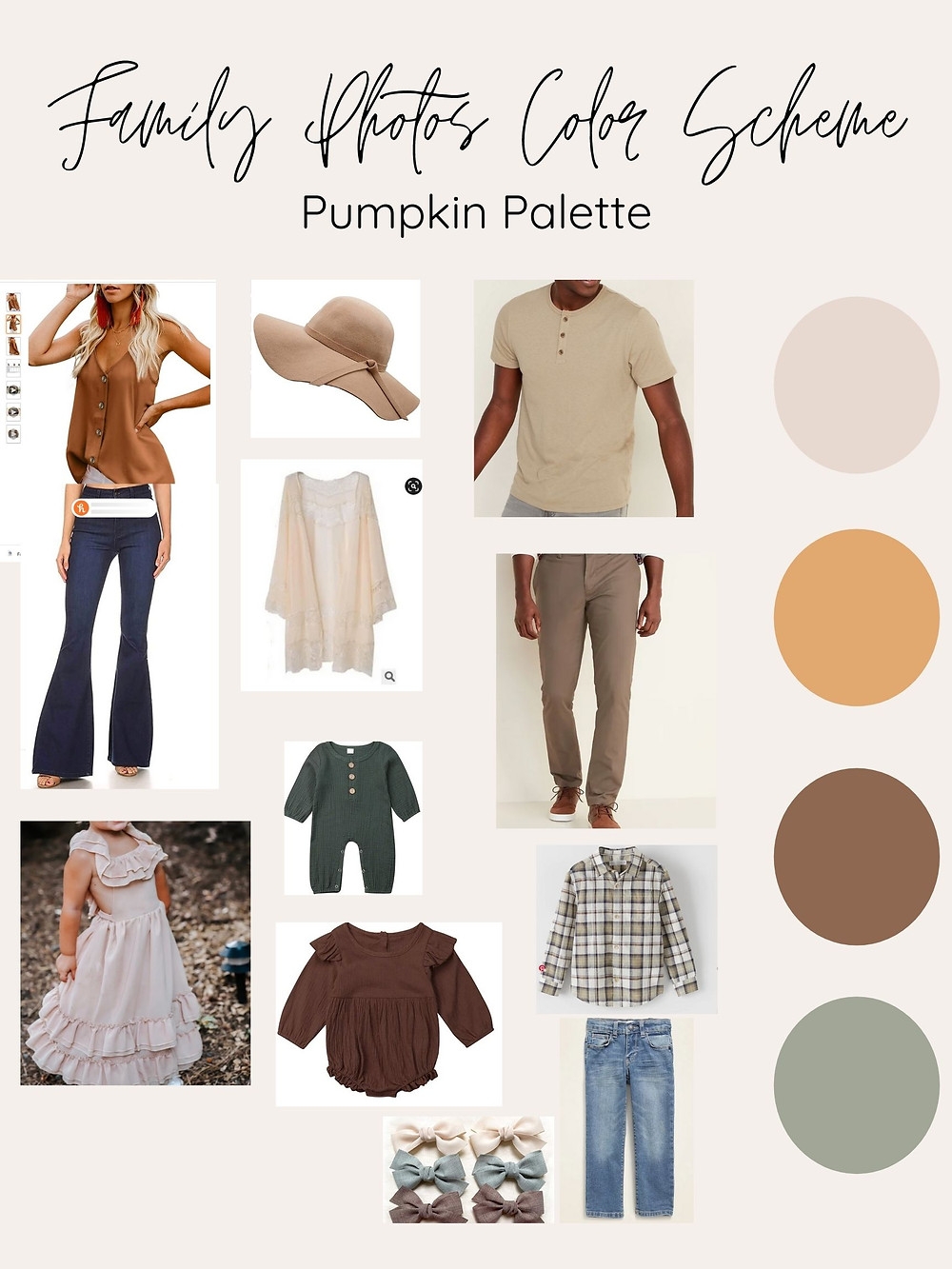 Trendy affordable fall family outfits