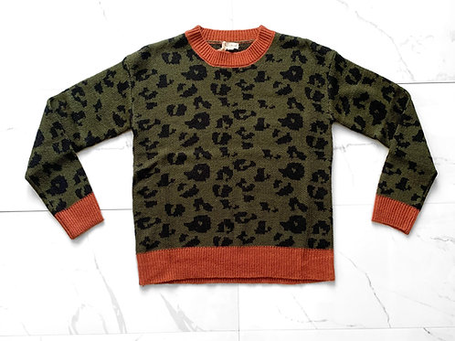 Green Cheetah Sweater