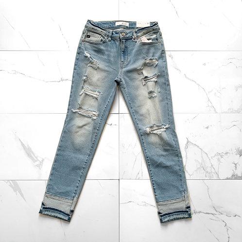 KanCan Cuffed Jeans
