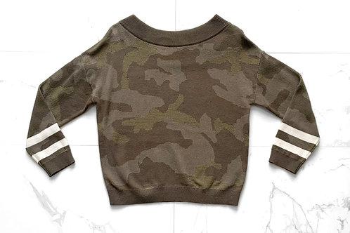 Green Camo Sweater