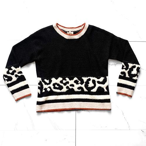 Cheetah Color Block Sweater