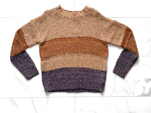 Tri Color Knit Sweater