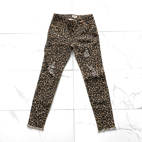 Cheetah Distressed Jeans