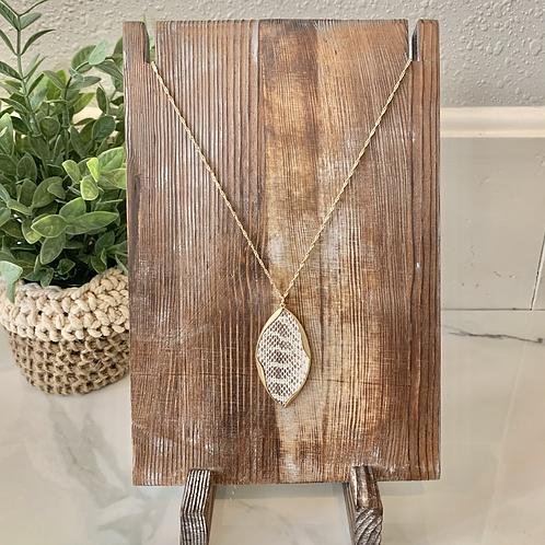 Snakeskin Leather Necklace