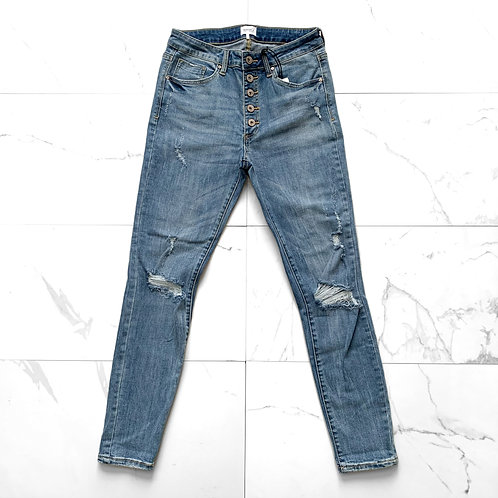 Special A High Rise Button Jeans