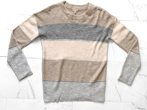 Neutral Color Block Sweater
