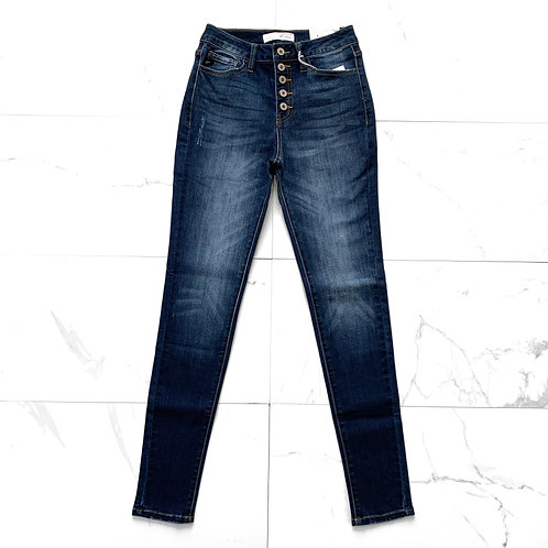 KanCan High Rise Button Jeans