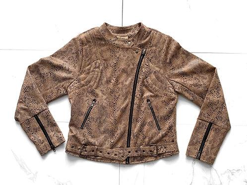 Snakeskin Moto Jacket