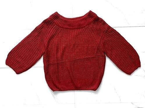 Red Off-Shoulder Sweater