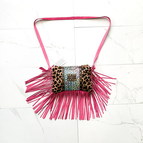 Cheetah Repurposed  Crossbody