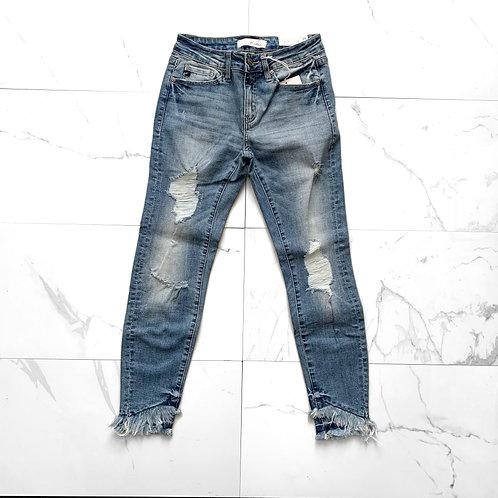 KanCan High Rise Hem Jeans