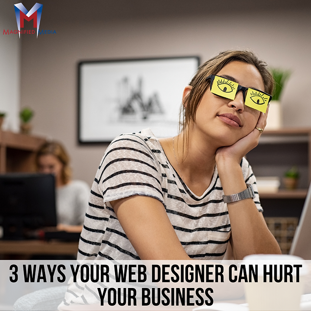 3 Ways Your Web Designer Can Hurt Your B