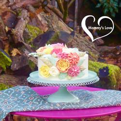 Cascading Buttercream Blooms Cake