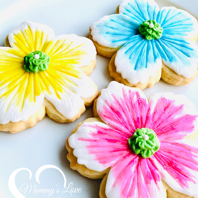 Painted Flower Cookies