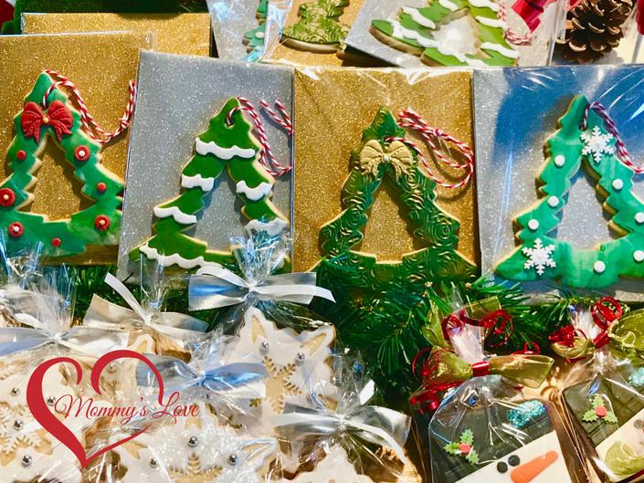 Adorned Christmas Tree Cookies