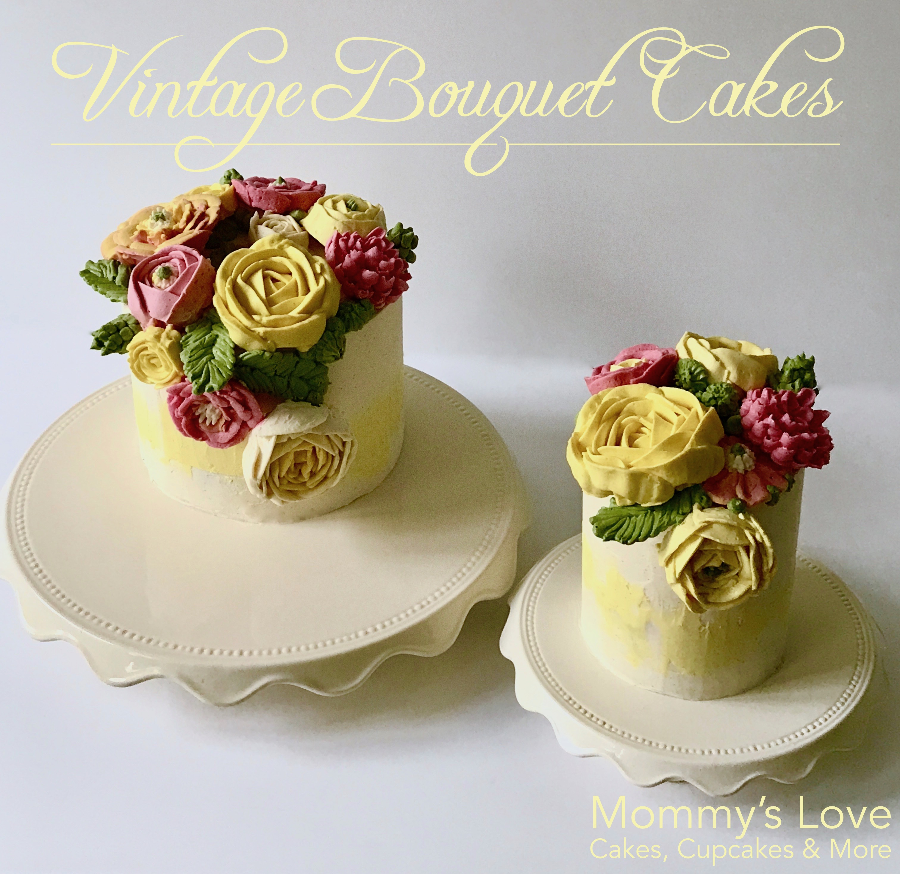 Vintage Bouquet Cakes by Mommy's Love