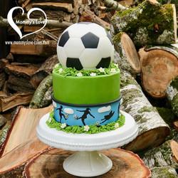Let's Play Soccer Cake