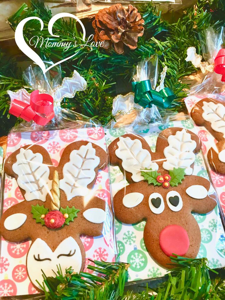 Rudolph Reindeer & Rosie Reindeer-Unicorn Cookies