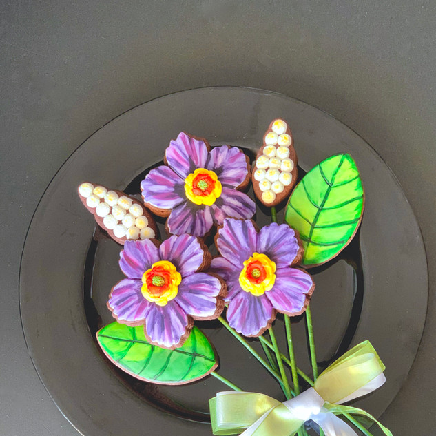 Spring Cookie Bouquet Purple