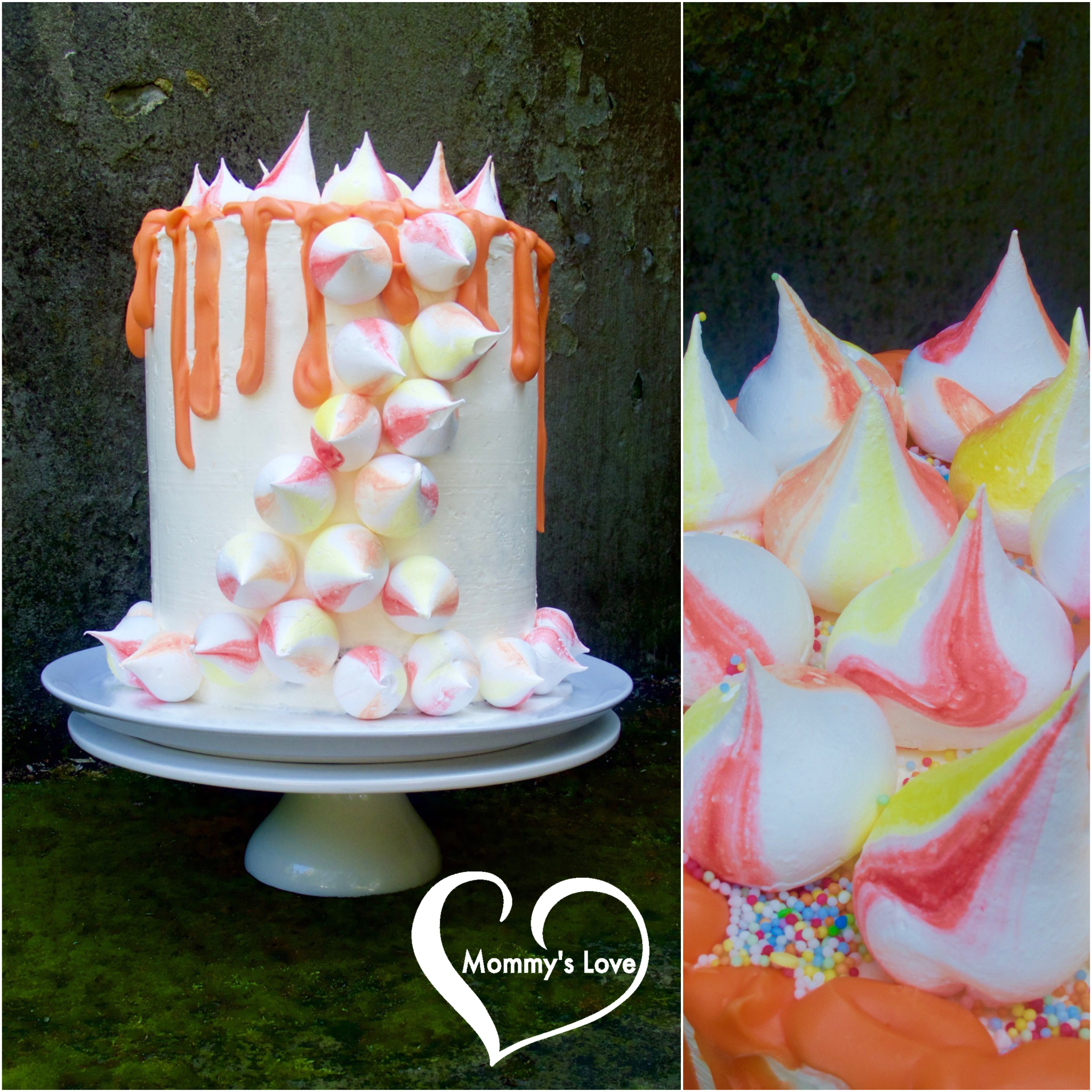 Shades of the Sun Drip Cake(Collage)