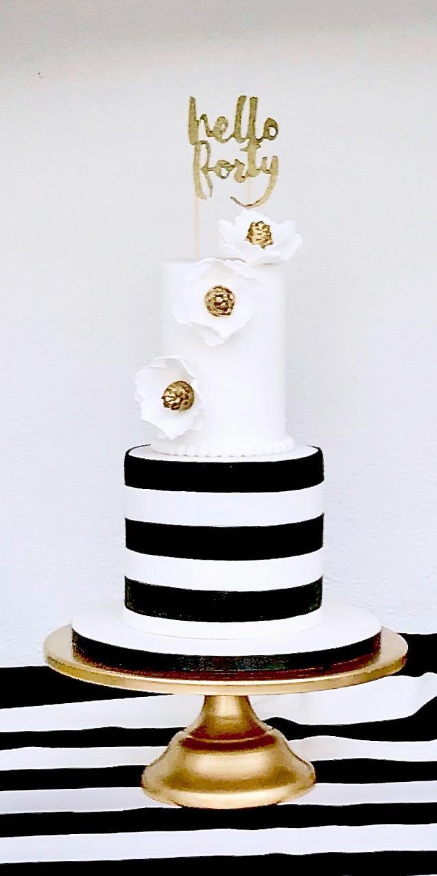 Hello Forty Birthday Cake