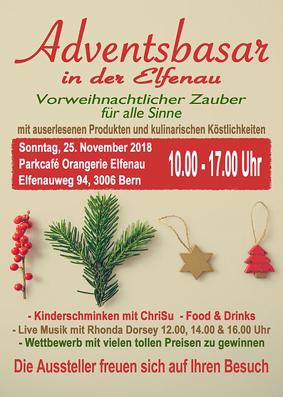 Adventsbasar in der Elfenau 2018 E-Flyer
